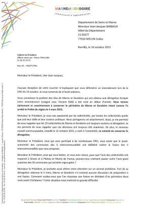 Courrier Barbaux Marne et Gondoire