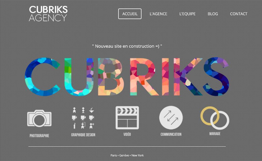 Cubriks Photographie-Graphique/Design-Vidéo-Communication-Mariage