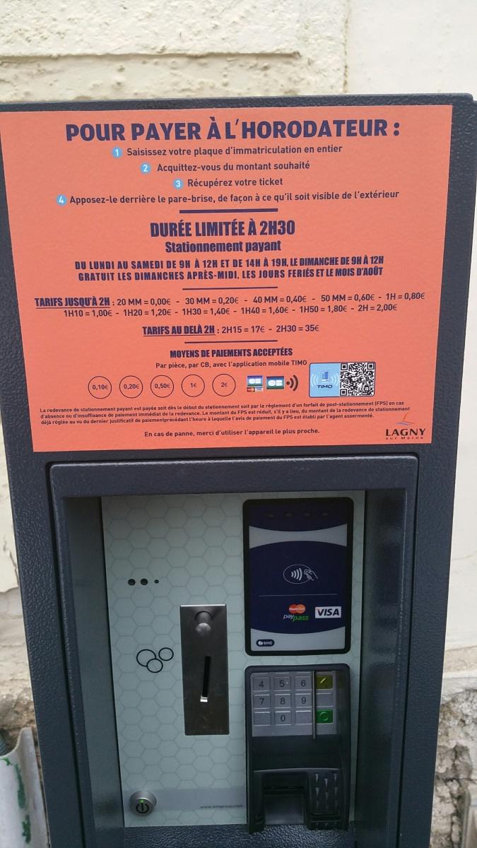Notre intervention en Conseil municipal-Nouvelles règles de stationnement payant à Lagny